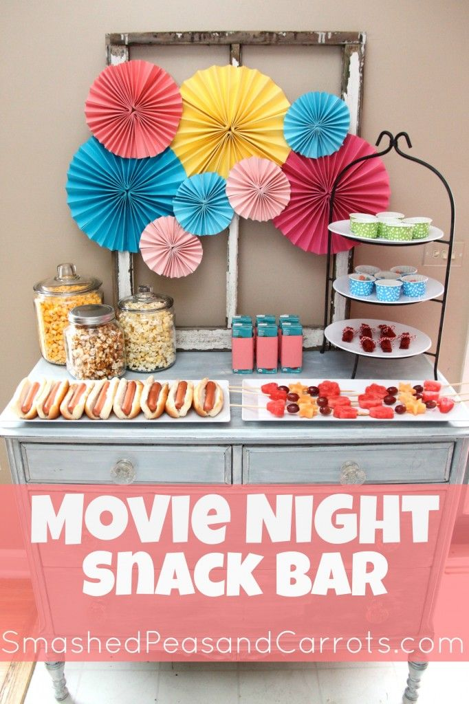 Family Movie Night Snack Bar