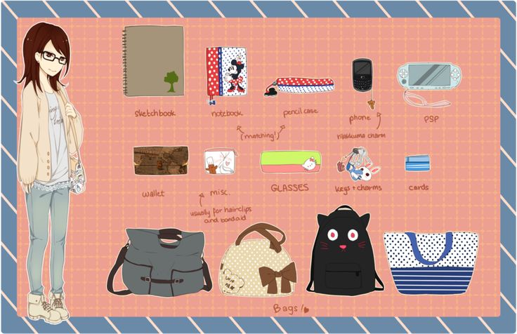 What's in my bag? by *kumirice on deviantART