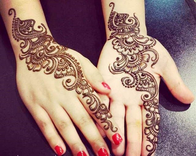 Simple Bridal Henna Designs for Weddings