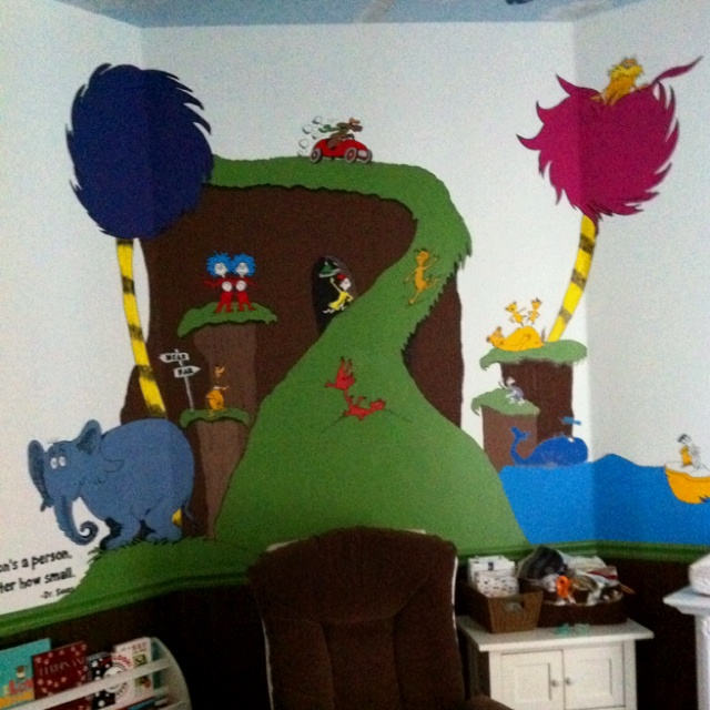 Macu0027s Dr. Seuss Nursery Wall Now Without His Crib. My Mom And I Hand