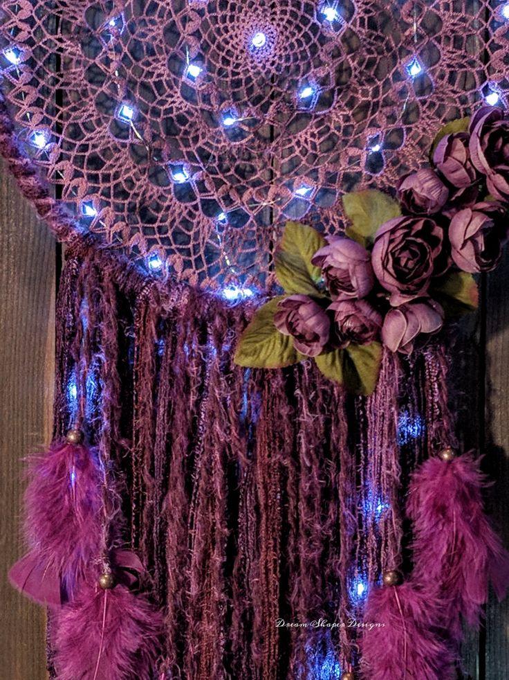 Gypsy Rose - large lighted dreamcatcher / nightlight by DreamShaperDesigns on Etsy