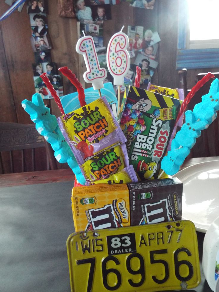 """Boys Birthday party ideas - Table centerpiece for """"Unsweet"""" 16 Birthday party by Barnwood and Bangles"""