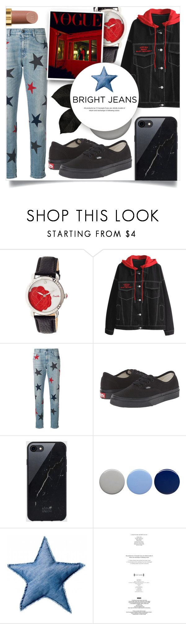 """""""Bright Jeans"""" by litenfels ❤ liked on Polyvore featuring Bertha, STELLA McCARTNEY, Vans, Sefton, Burberry, Bloomingville, StyleNanda and Tom Ford"""