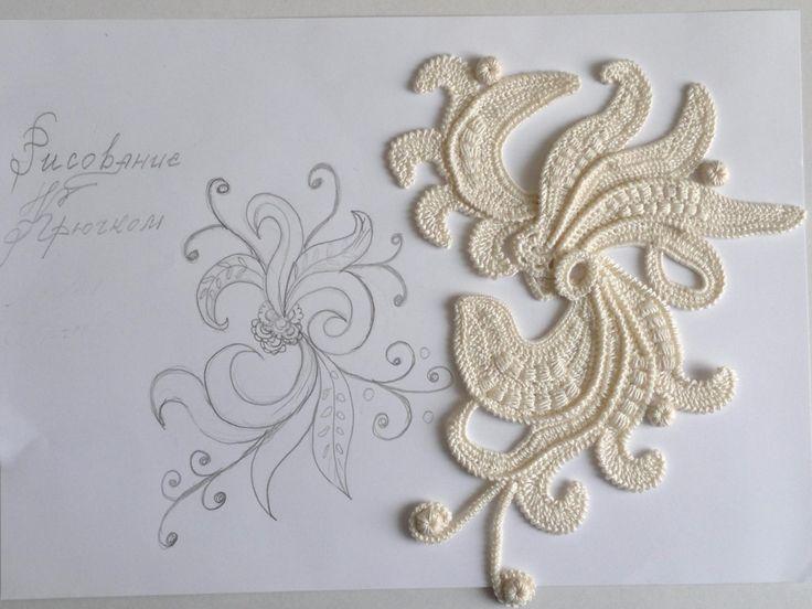 Лада Сергеева (Игнатьева).  Irish crochet. Freeform. irish crochet patterns…