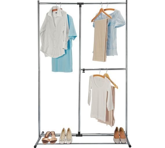 Buy HOME Adjustable Chrome Plated Clothes Rail - Silver at Argos.co.uk, visit Argos.co.uk to shop online for Hanging rails, Bedroom furniture, Home and garden