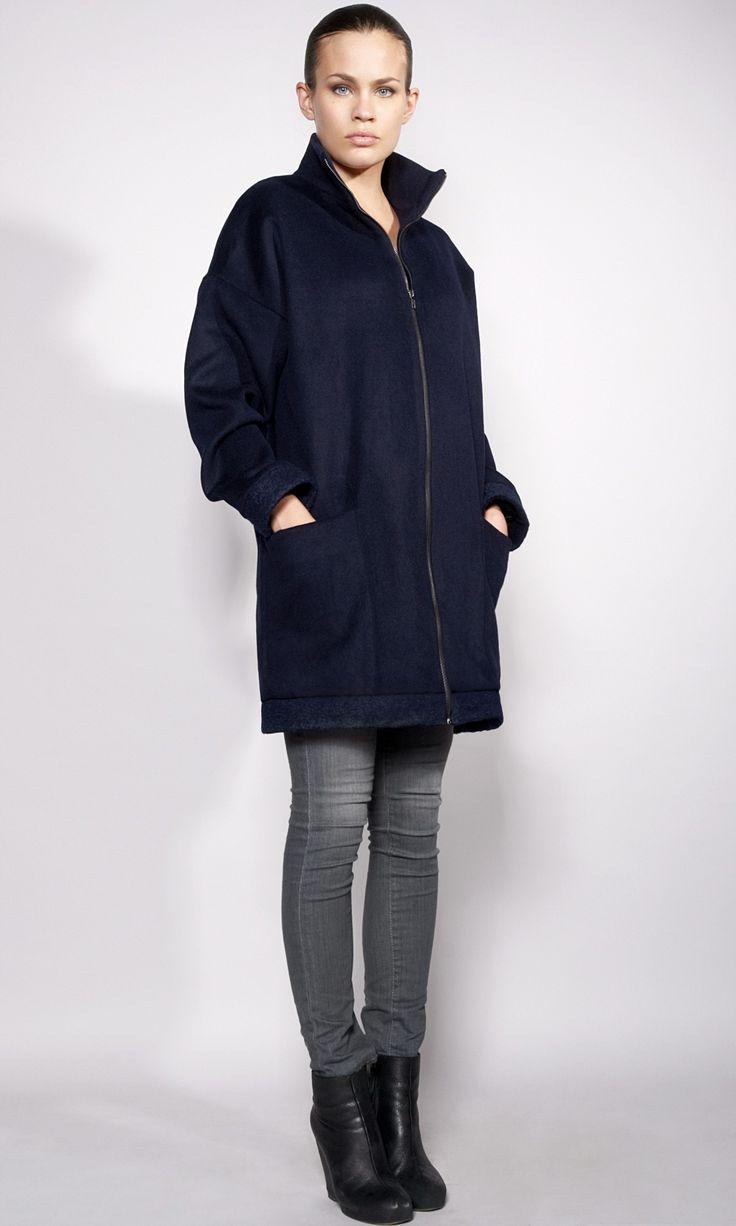 Manteau long laine par Élodie Oberlé