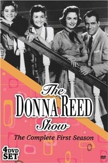 """""""The Donna Reed Show"""" with Carl Betz and Donna Reed. She was a lovely actress and from Iowa - Denison, IA, I believe. She died in 1986 at only age 64 of pancreatic cancer. That stuff is so deadly. We've lost a lot of good people to it - including Patrick Swayze and Steve Jobs."""