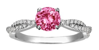 Pink Sapphire Engagement Ring from Brilliant Earth