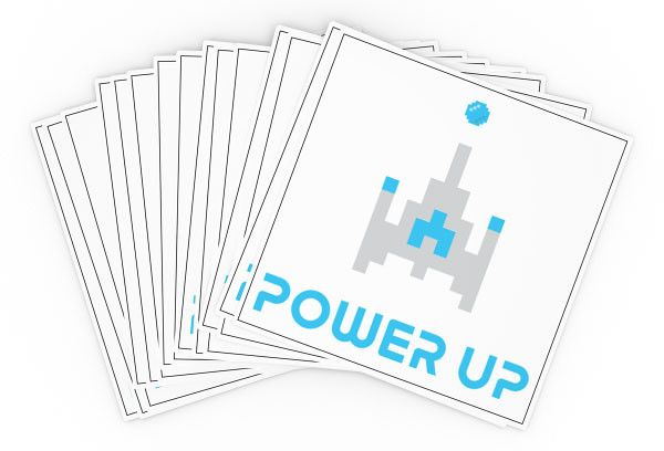 Temporary Tattoos - Pack of 12 - Power Up VBS by Orange in