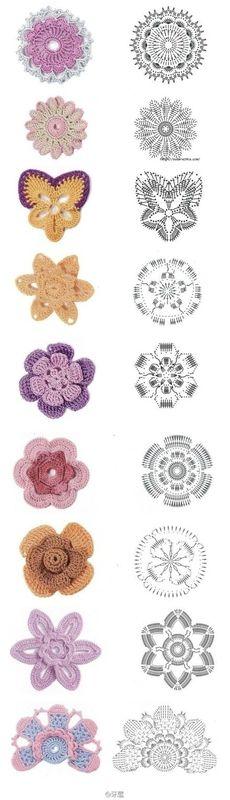 fleurs au crochet free pattern