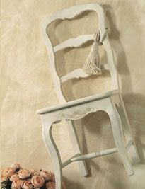 Sedia provenzale bianca