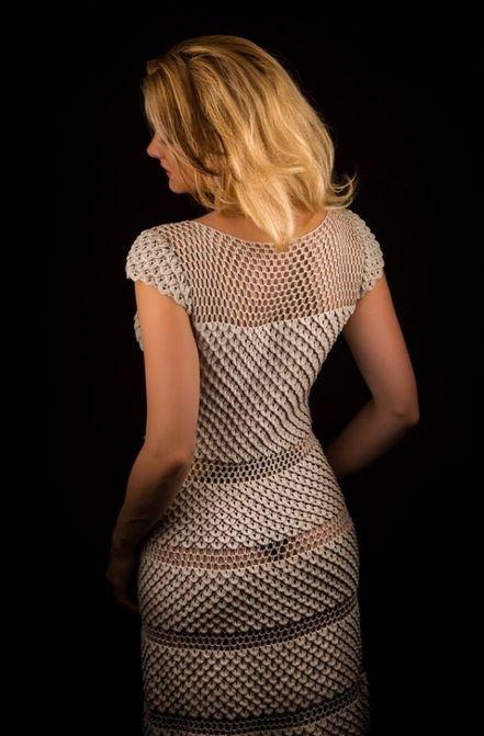 Платье крючком красивым узором