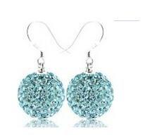 GAGAFEEL Wholesale Genuine 925 Sterling Silver Dangle earrings For Women Wedding Party Drop Earrings With Blue Purple Crystal