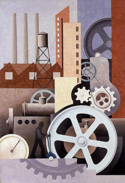 Paul Kelpe (German-American, 1902-1985)  Machinery Abstract #2, 1934