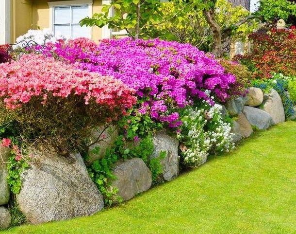 Дизайн сада при помощи камней, фото