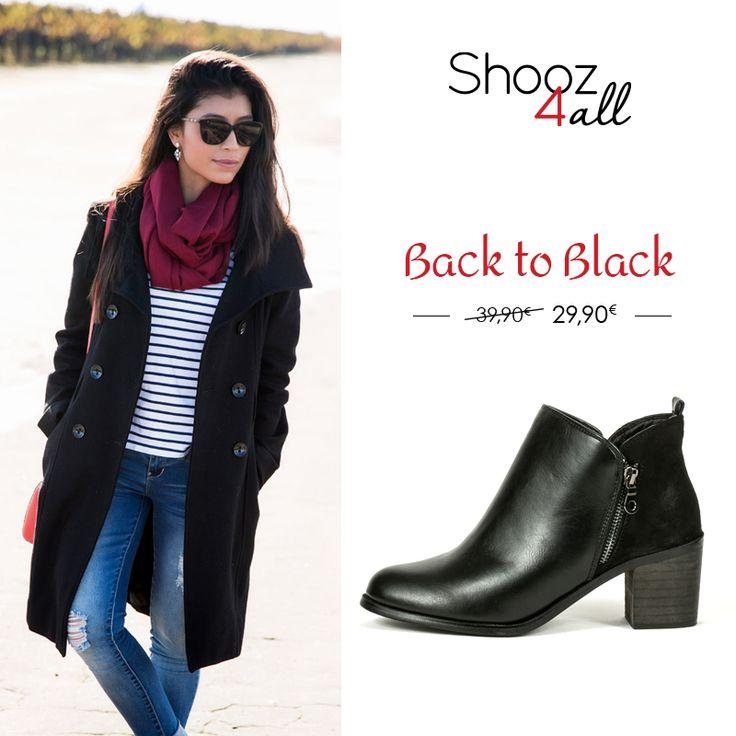 Συνδυάστε άψογα με jeans και όλα τα παντελόνια μαύρα low cut μποτάκια με χοντρό τακούνι. Από υψηλής ποιότητας τεχνόδερμα, με φερμουάρ για ευκολία στο φόρεμα, γυναικεία παπούτσια απαραίτητα σε κάθε γκαρνταρόμπα.  #shooz4all #mpotakia #low_cut
