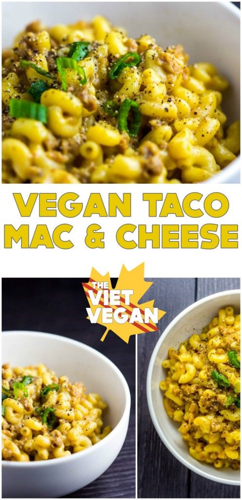 Vegan Taco Mac & Cheese | The Viet Vegan | It's like if you took Hamburger Helper and taco spice and put it in mac and cheese. BUT VEGAN.