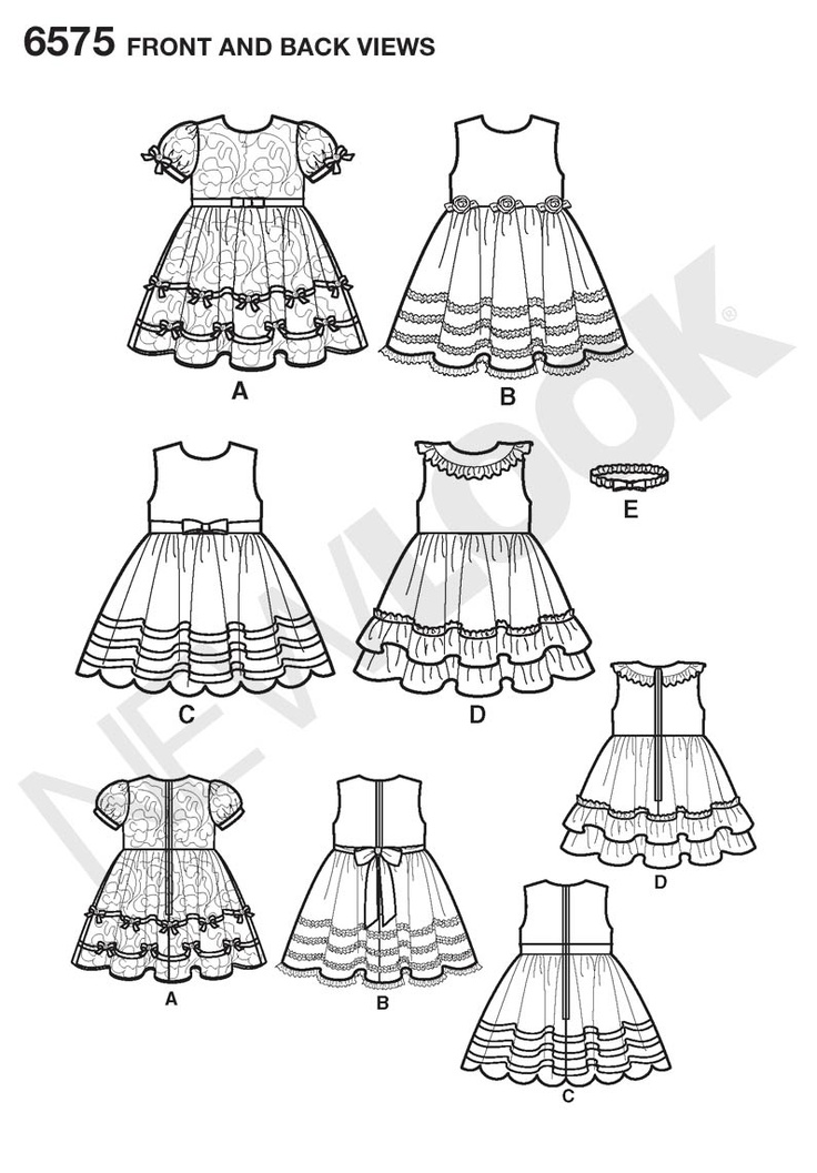 16 Best Images About Baby Clothes Skethches On Pinterest | Baby Dresses Sewing Patterns And ...