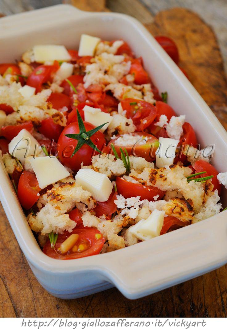 Crumble di pomodori e formaggio ricetta veloce senza forno vickyart arte in cucina