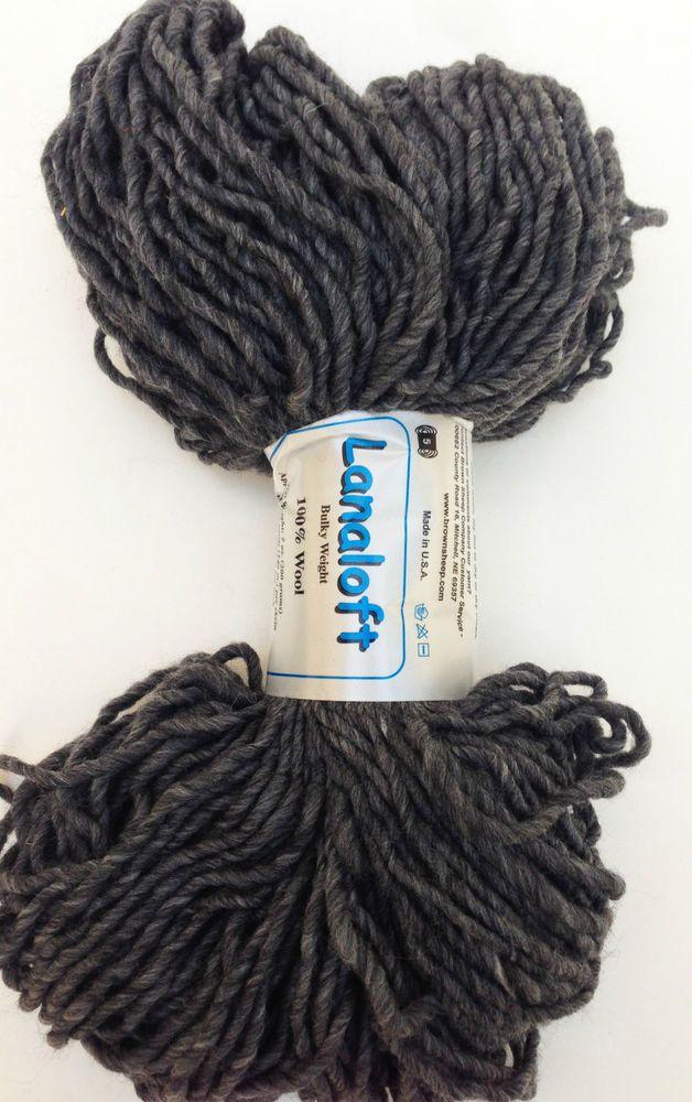 Brown Sheep Yarn Lanaloft Chunky Bulky Wool 7 oz 1 Skein Dark Ash #BrownSheep