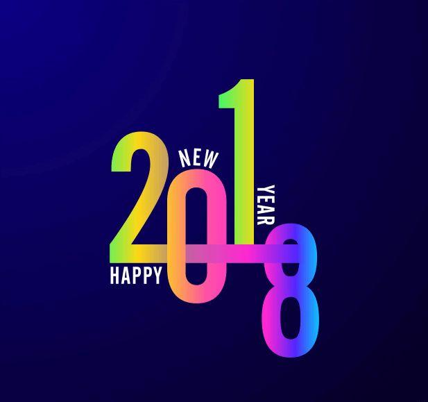 Happy New Year 2018 Tech Photo