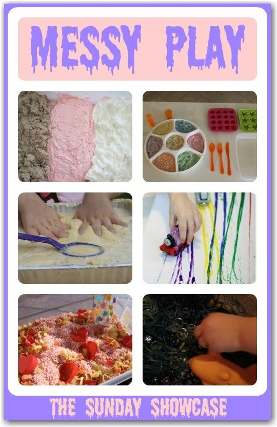 Encourage sensory learning with these FUN and colourful messy play activities