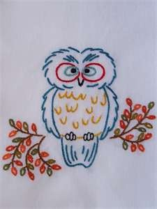 tea towel owl