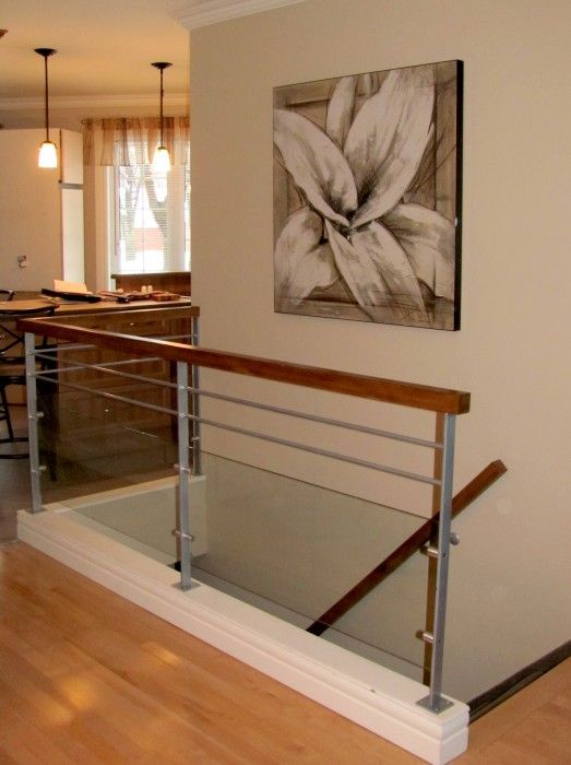 25 beste idee n over rampe escalier op pinterest rampe for Descente d escalier interieur