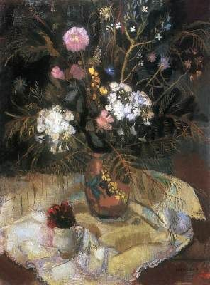 Mattioni Eszter: Virágcsendélet