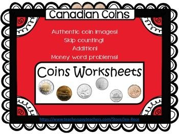 Canadian Money - Coins Worksheet PackTeach your students how make real money connections with these Canadian coin worksheets! Product Details: Six Pages One page for each Canadian coin Each page is filled with questions, along with supportive authentic photos to help engage your students and reinforce their learning.
