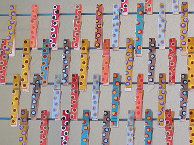 my painted clothes pins -- love these things!