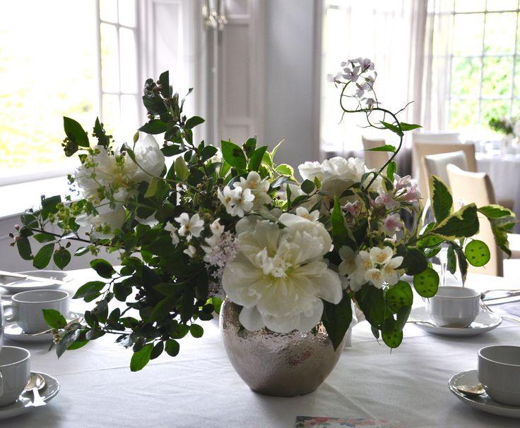 Wedding Centrepiece, Peonies, Lilacs, Spring Flowers