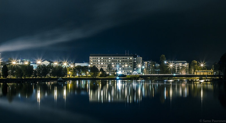 Kajaani city at night by =Puuronen on deviantART