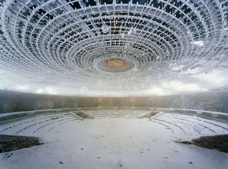 The Buzludzha Monument  The monument was built on the Buzludzha mountain to commemorate the start of the organized Socialist movement in Bulgaria.