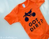 Dirt Bike Baby Clothes.. It's even KTM colors :)