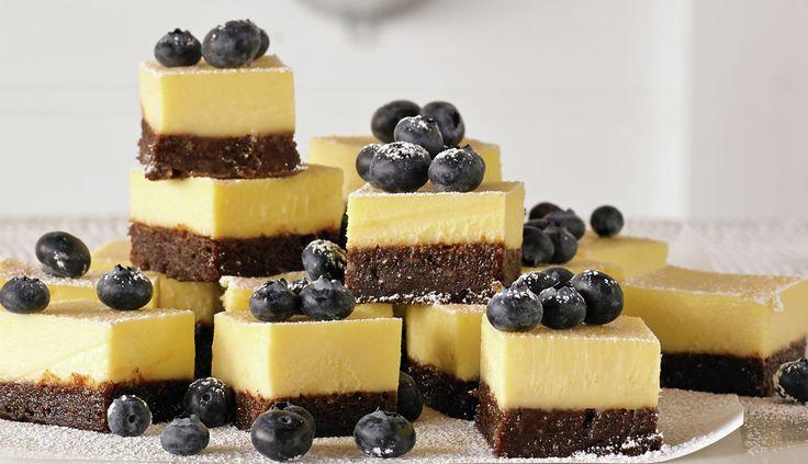 Chocolate Brownie Cheesecake Slice