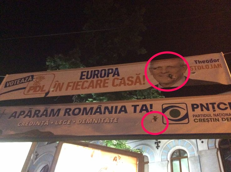 Spotted in Bucharest, banners for the European Parliament elections, June 2014. #politicians #shit #electoralCampaign