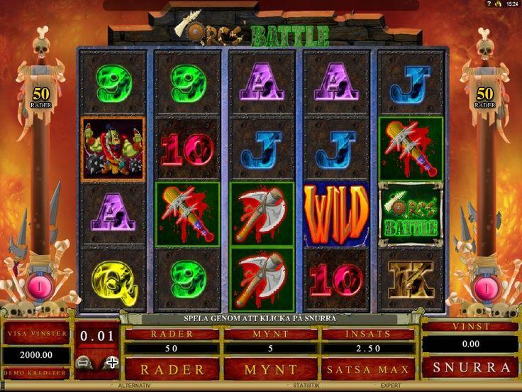Игровой автомат OrcsBattle  Если Вы играли в какую-нибудь из частей игры Warcraft или иную подобную игру, то про то, кто такие орки, Вам рассказывать не надо.  И создатели игры Битва Орков передали в своём творении их характер на все 100. Как в плане графического оформления, так и в плане простоты управления. Настройте до 50 игровых линий на 5 барабанах — и в бой, за золотом!  Эти вымышленные персонажи славятся своей кровожадностью и воинственностью, но в данном слоте у вас есть все шансы…