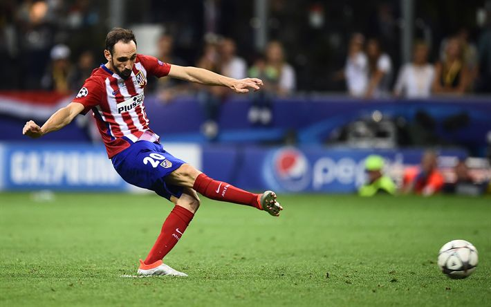 Download wallpapers Juanfran, 4k, Atletico Madrid, footballers, Juan Torres, La Liga, Spain, football, soccer
