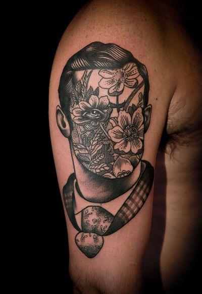 Portrait tattoo design pietro sedda