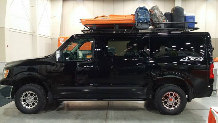 Nissan Van With Aluminess Roof Rack Nissan Nv Aluminum