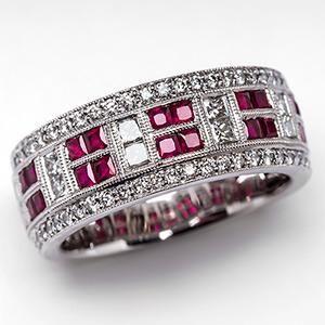 Women S Diamond And Ruby Rings