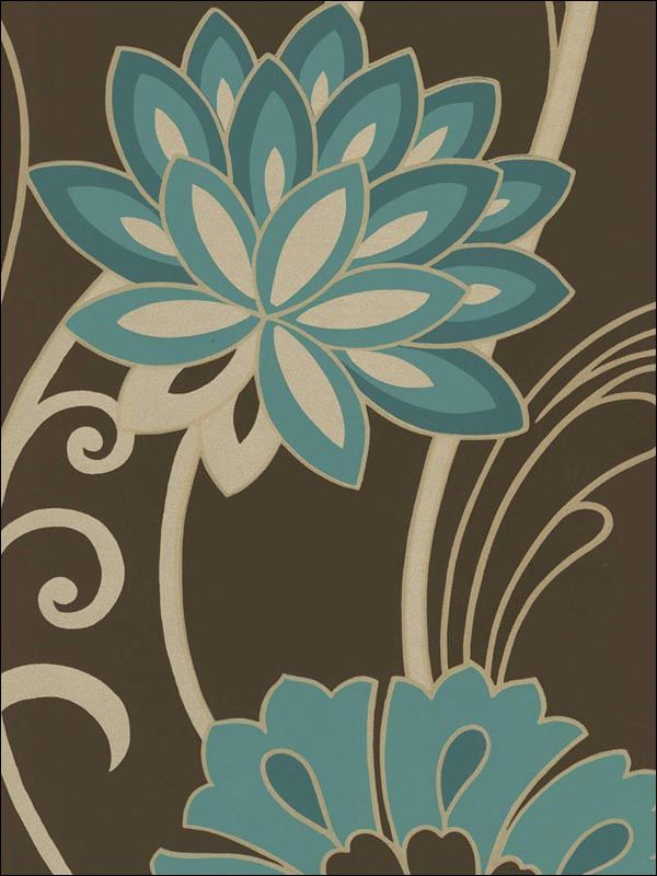 wallpaperstogo.com WTG-024423 Blue Mountain Contemporary Wallpaper