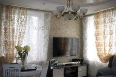 Французские шторы и тюль для гостиной