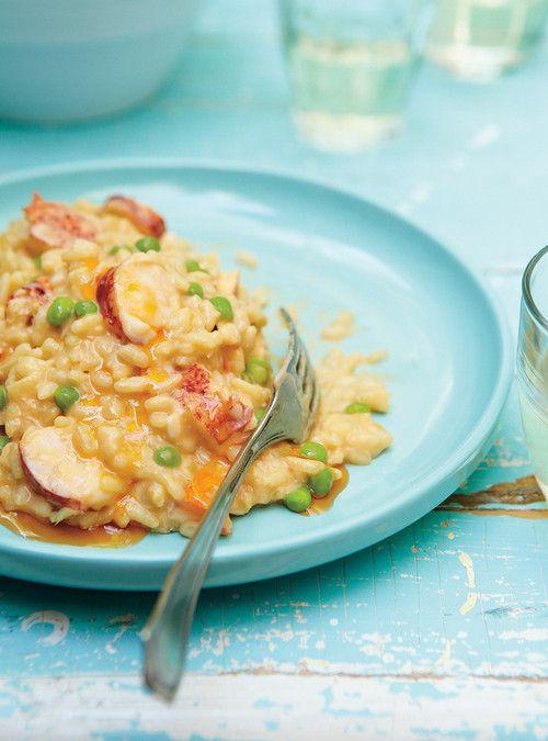Risotto au homard, aux petits pois et au mascarpone Recettes | Ricardo