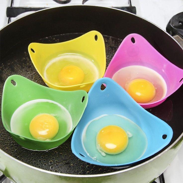 Silikonowe Jajko Kłusownik Gotować Gotować Strączki Pierścienie Silikonowe Pancake Egg Egg Mold Kształt Misy gadżety Kuchenne narzędzia kuchenne