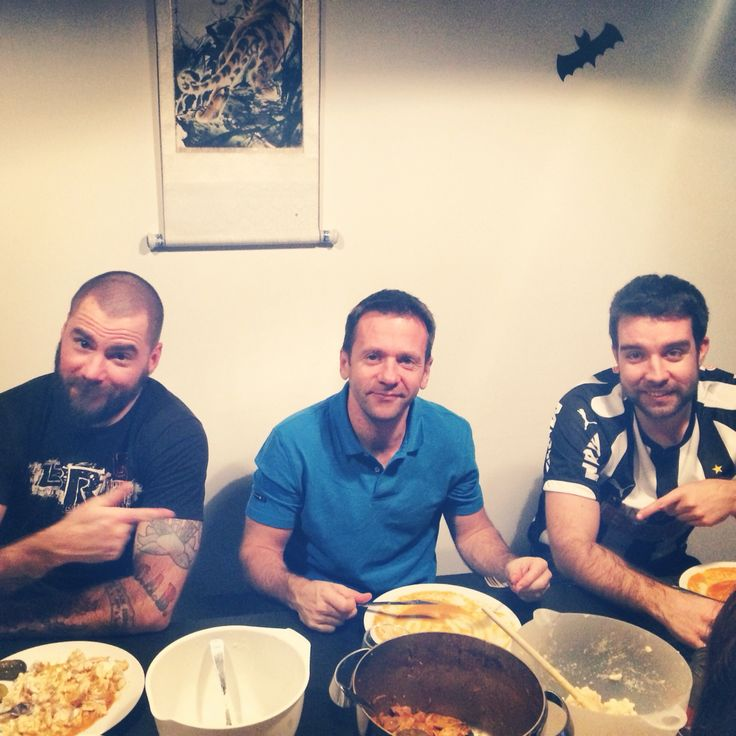 Boys eating what I cooked