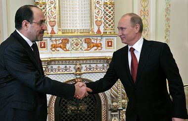 Putin to meet with Iraq's vice-president. Russian President Vladimir Putin on Tuesday will meet with Iraq's visiting Vice-President Nouri al-Maliki in St. Petersburg, Russian presidential spokesman Dmitry Peskov told TASS. Al-Maliki, the leader of the Rule of Law parliamentary coalition, arrived in Russia on July 23 on a visit, which will last till July 26. He has already met with Foreign Minister Sergey Lavrov and Federation Council Speaker Valentina Matviyenko.