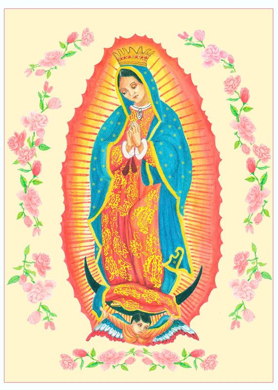 Fine Art Giclee Print Virgen de Guadalupe by FreehandStudios