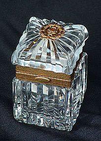 A Baccarat Crystal & Ormoulu Box